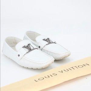 Never worn Louis Vuitton white Monte Carlo Loafer